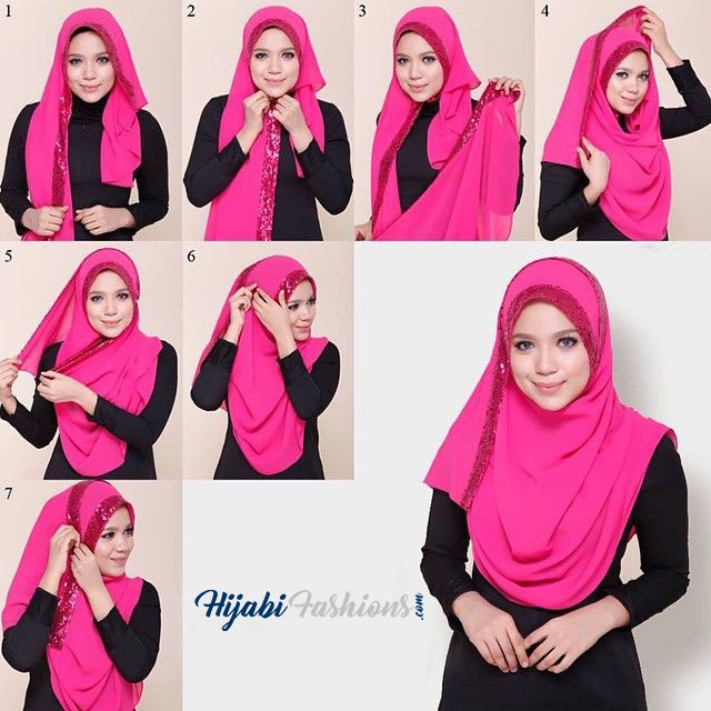 Pin up method for wearing a Hijab