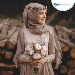 Hijab Bridal accessories