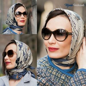 Colored Glasses With Matching Scarfs