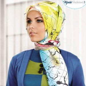 Printed Turkish Silk Hijab for Work