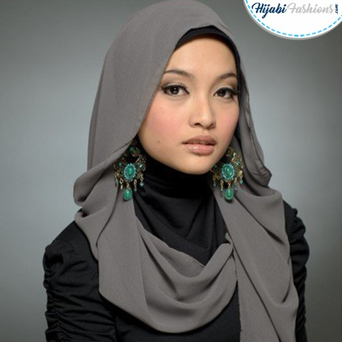 Turkish Hijab Style with Earrings