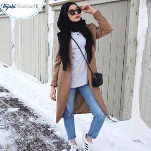 Casual Black Hijab Style