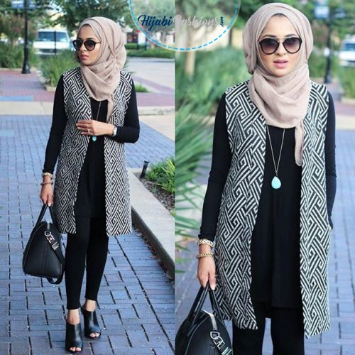 Chest covering hijab style for school girls