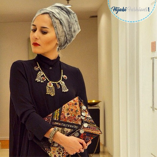 turban hijab style with neck coverage hijabi fashions