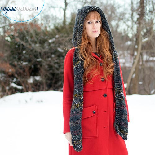 hooded scarfs girl