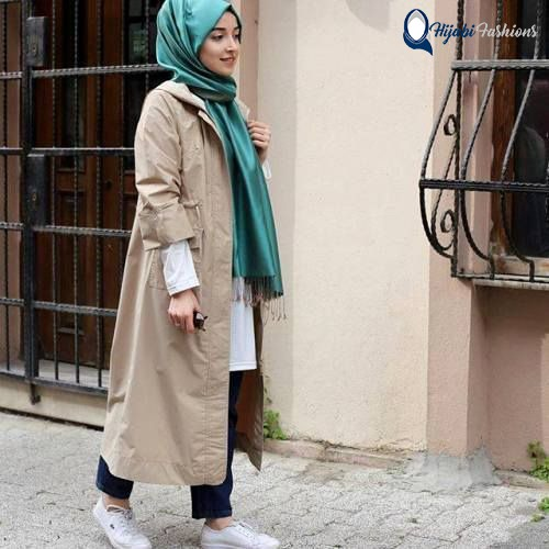 Long Hijab style for school girls