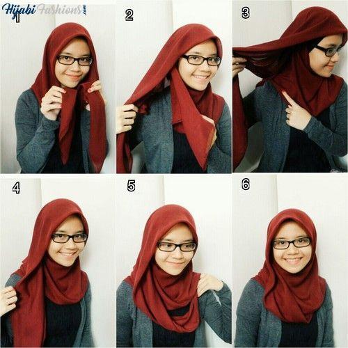 Plain Turkish hijab style for school