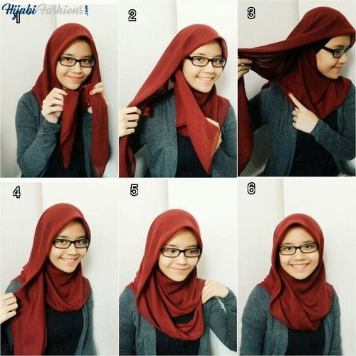 Plain Turkish hijab style for school