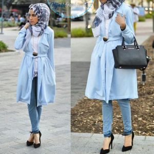Printed Hijab style