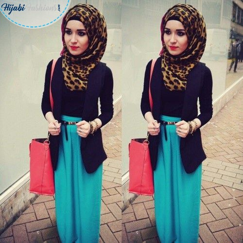 Round Face hijab style