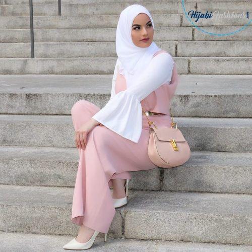 Side Pin Hijab Style