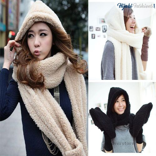 winter Hooded Scarf