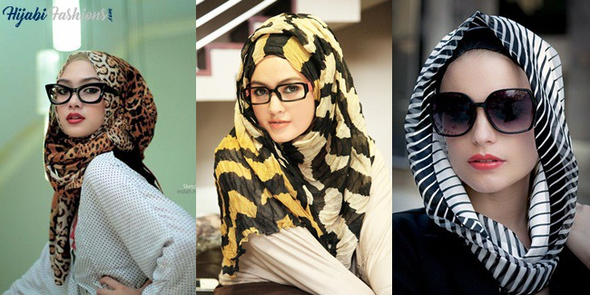 Egyptian Hijab Style with Cheetah print