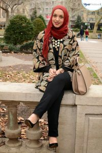 Hijab Style with a Gown