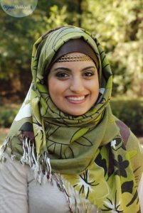 Hijabs decorated with headbands