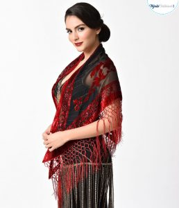 Shawl with sleeves