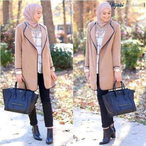 Winter Style for Egyptian Hijab