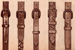 1940s mens belts