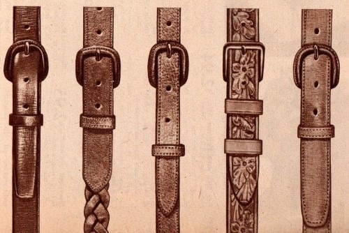 1940s mens belts