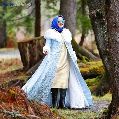 Indonesian Winter's Hijab Look