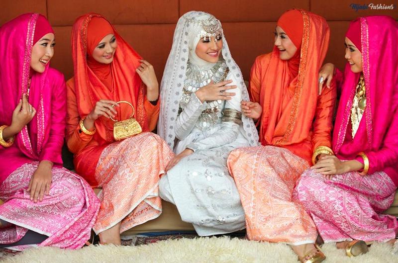 indonesian wedding hijab