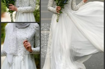 islamic bridal dresses with hijab